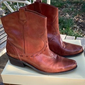 Franco sarto ankle boots 10, chestnut